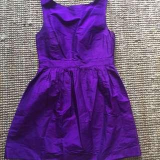 Ultra Suite Cadbury Purple Raw Silk Dress
