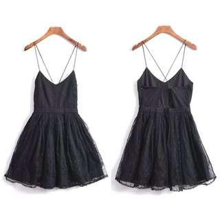 OshareGirl 04 歐美細肩帶連身蓬蓬裙洋裝連身裙