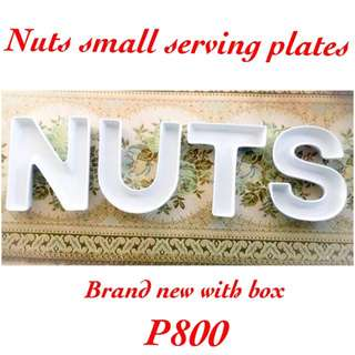 Nuts Small Serving Letter Dishes