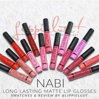 Nabi Long Lasting Matte Lip Glosses