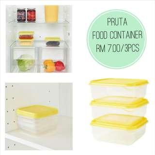IKEA - PRUTA Food Container (3pcs)