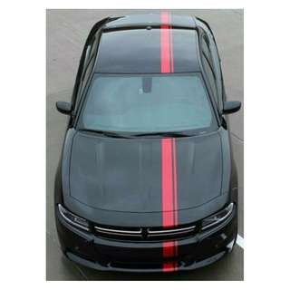 2015-2016 Dodge Charger Euro Racing Decal Stripes Vinyl Graphics E-RALLY
