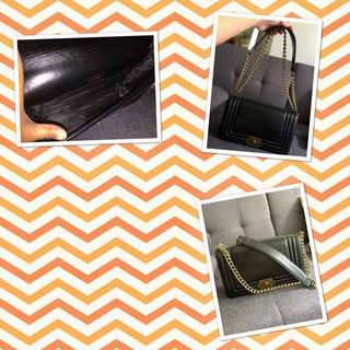 Chanel bag - Black leather, Single Flap