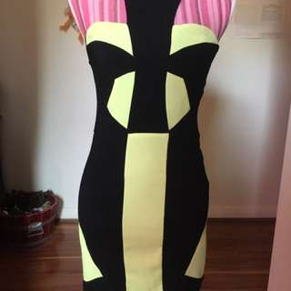 Black & Yellow Cocktail Dress