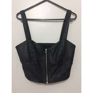 Forever 21 Leatherette  Crop Top