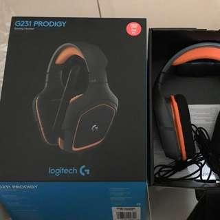 Headphones. Logitech G231 Prodigy