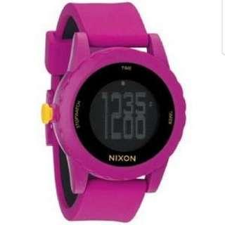 Nixon Women's Pink Silicone Strap Watch NIXON-A326644-00