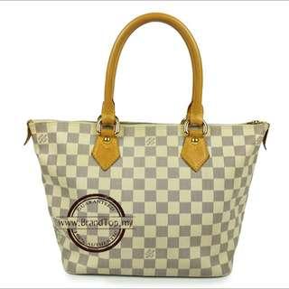 Authentic Louis Vuitton Damier Azur Saleya PM
