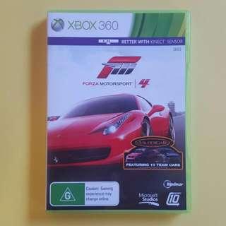 "Forza motorsports 4 ""Xbox 360"""