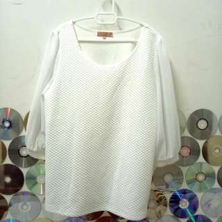 Cream White Soft Blouse