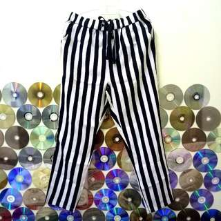 Striped Black And White Pants
