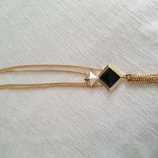 Gold With Black Necklace