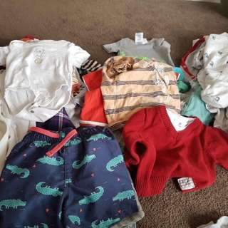 Bulk Boys Clothes 3-6 Month