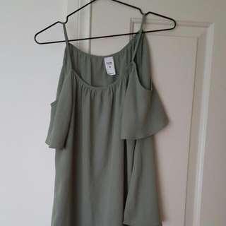 Khaki\green Top Size8
