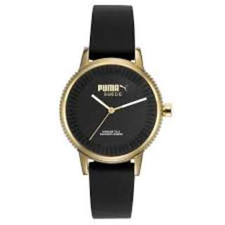 NEW AND AUTHENTIC PUMA TIME PU104252002 BLACK WOMEN'S WATCH
