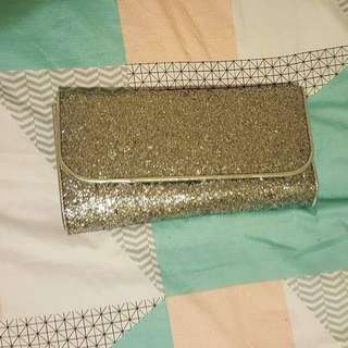 Wildfire Silver Sparkly Clutch
