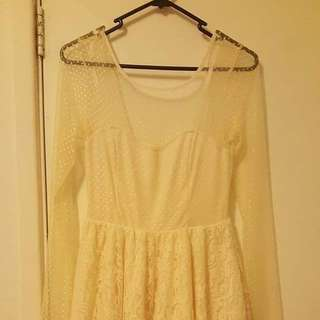 Ark & Co Cream Lace Dress