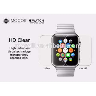 Mocoll Apple Watch 42mm Screen Protector Tempered Glass