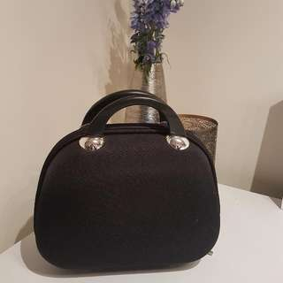 Black Hard Case Jewellery Travel Bag