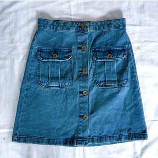 Gu Buttondown Skirt