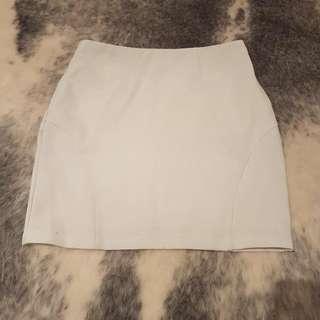 White Forcast Mini Skirt - Size 8