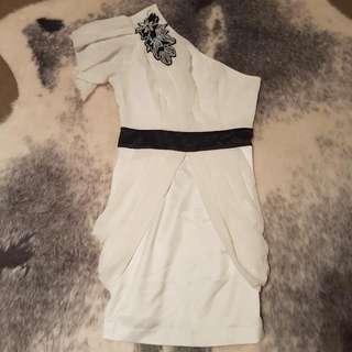 Blockout One Shoulder Mini Dress - Size 8
