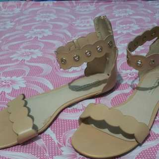 Beige Charles And Keith Sandal
