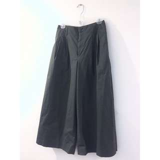 Uniqlo 軍綠 寬褲