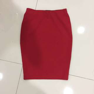 Nichii Red Bodycon Skirt