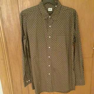 UNIQLO Long Sleeve Shirt Brown