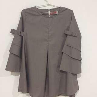 NEW ITEM! Baju Wanita Anida (Grey)