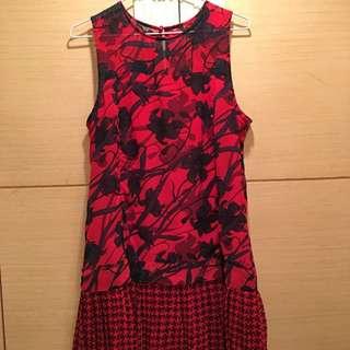 AF雪紡紅洋裝