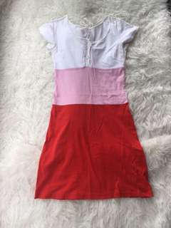Agnes B Tri Coloured Summer Dress