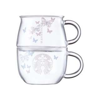 Starbucks Korea Butterfly Stacking Glass Set