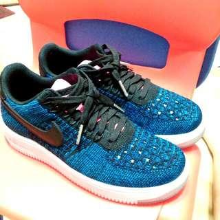 🚚 降!Nike Air Force 1 編織 寶藍x粉紅 Af1