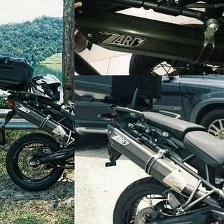 Zard Penta Carbon Exhaust For Triumph Tiger 800