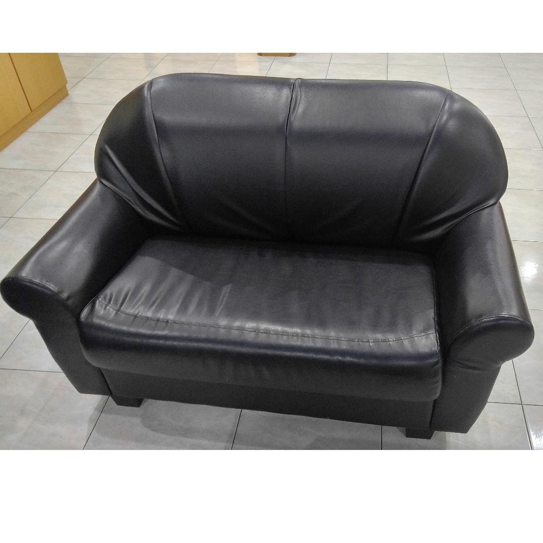 5 Seaters Pvc Leather Sofa On Carou