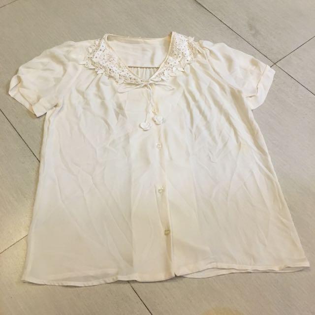 米色雪紡襯衫