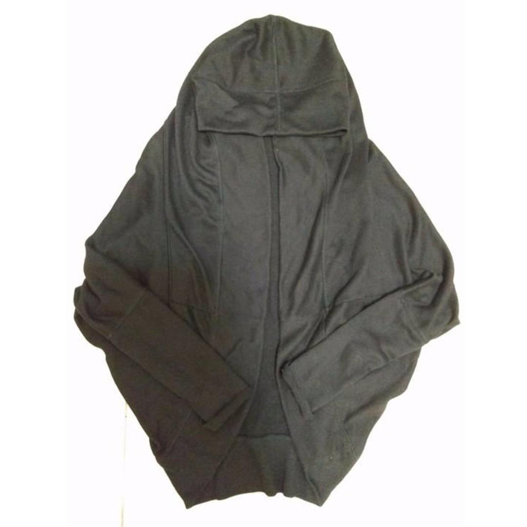 《免運費》黑色連帽飛鼠袖針織外套 #運費我來出 #含運最划算 #外套特賣
