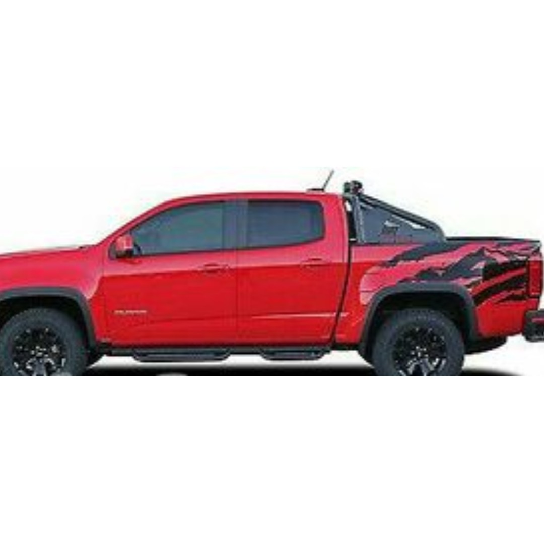 ANTERO Truck Bed Mountain Vinyl Graphic Decals Stripe 2015-2017 Chevy Colorado