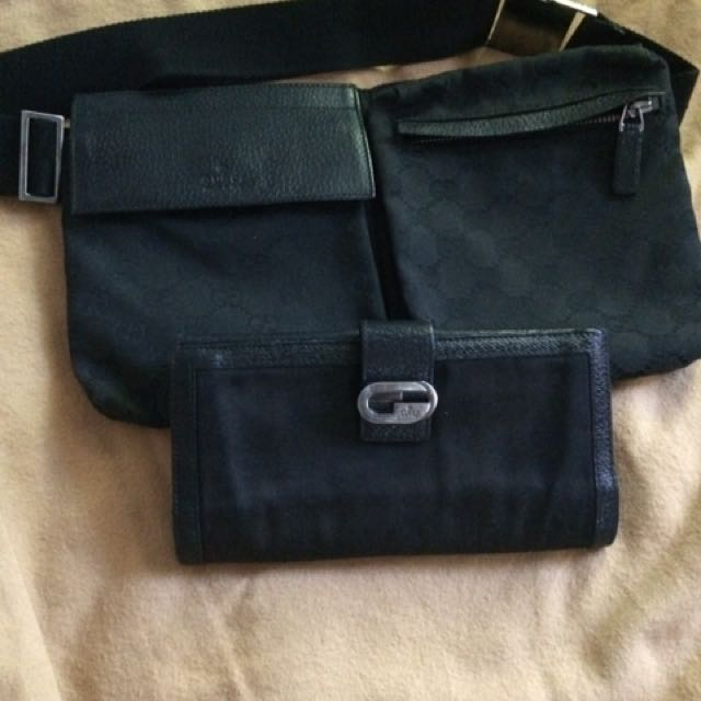 Authentic Black Gucci Belt Bag