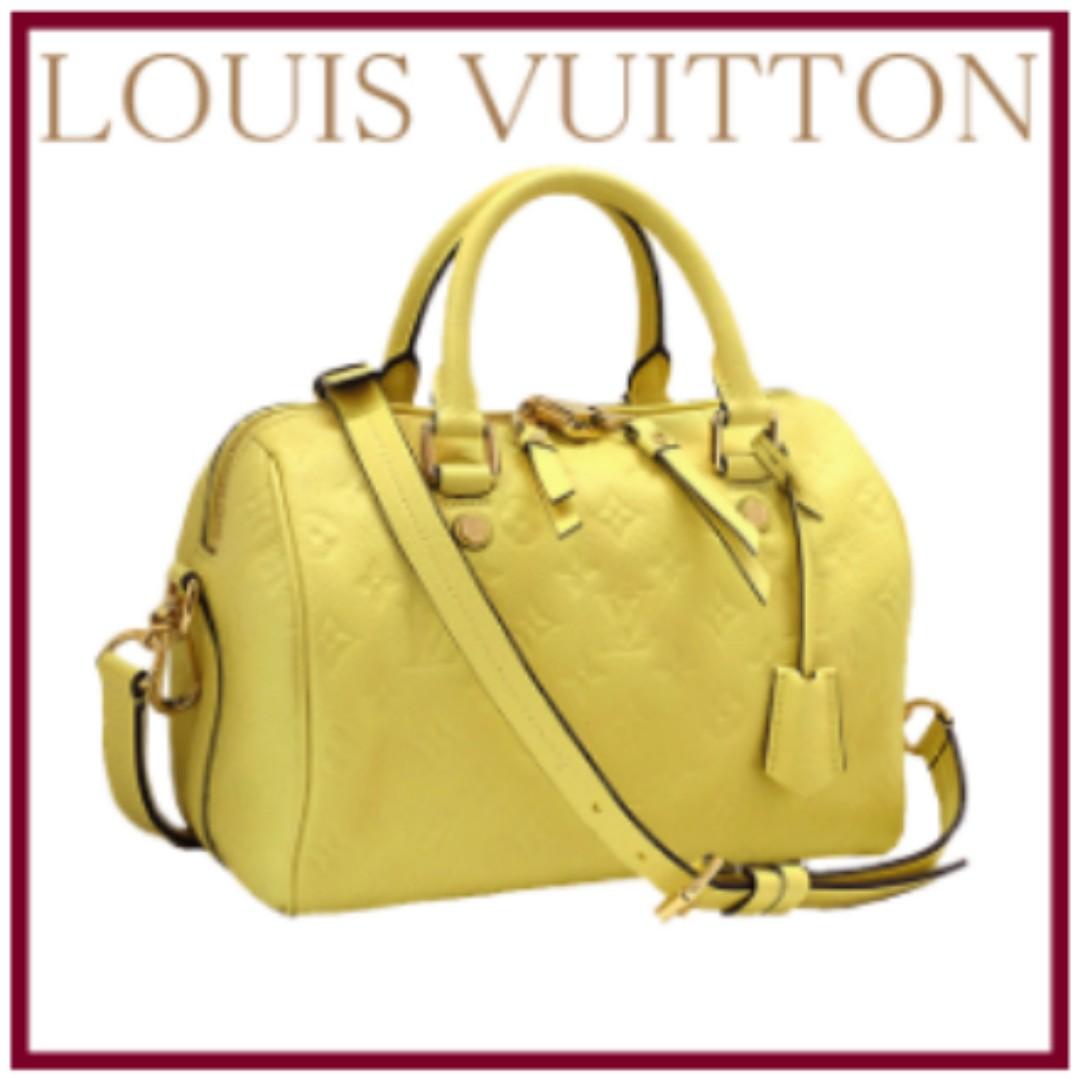 Authentic Louis Vuitton Anplant ★ Speedy Band Riel 25 AH 0134