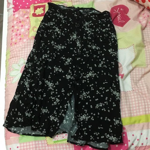 Bardot Black And White Ditsy Floral Midi Skirt Size 10