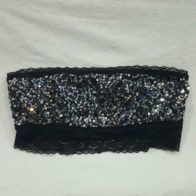 BNWT Victoria's Secret Lace Bandeau Black Sz S
