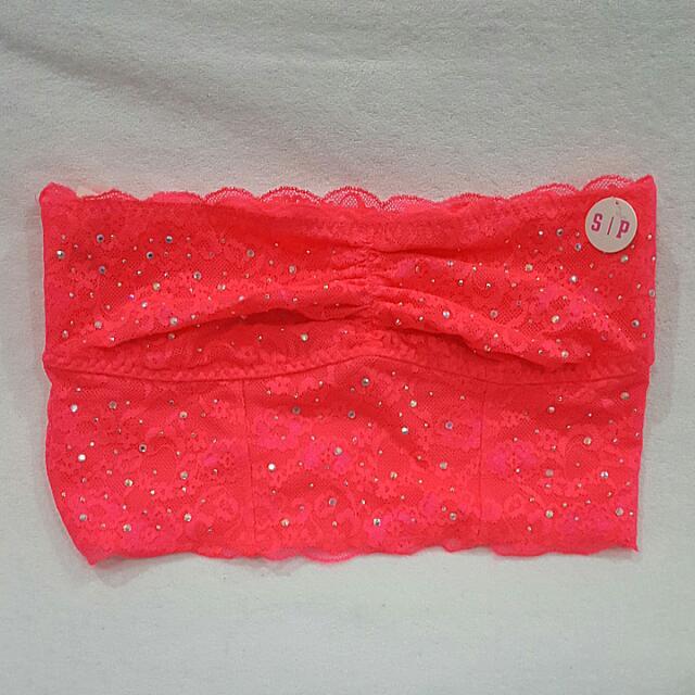 BNWT Victoria's Secret PINK lace Bandeau Sz S