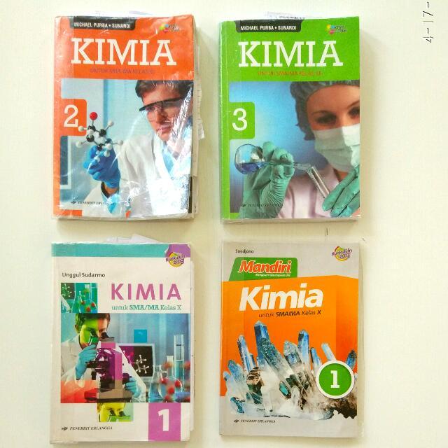 Buku Pelajaran Kimia Kelas X XI XII Erlangga 2006 2013
