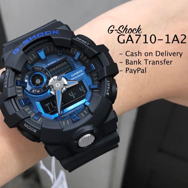 Casio G-Shock GA710-1A2 Anadigi Watch For Men