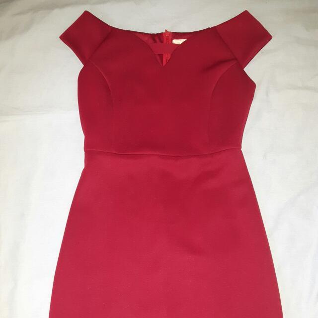 CLN MAROON DRESS