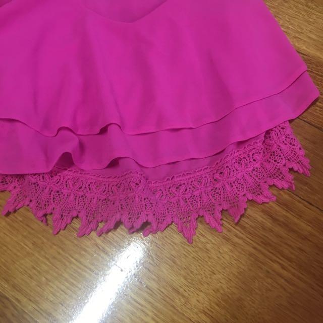 Crop Singlet Pink Size 8