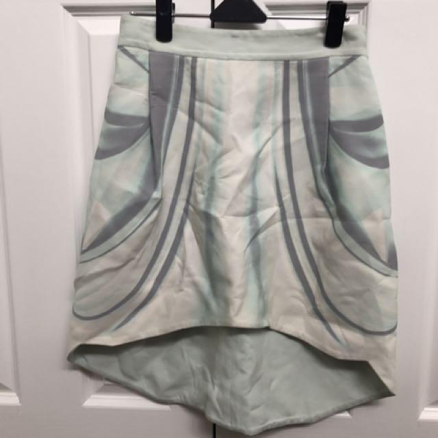 Dion Lee pattern blue skirt size 8
